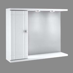 Καθρέπτης με ερμάριο αριστερά & 2 σποτάκια