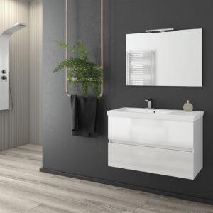 Drop λευκός καθρέπτης Luxus